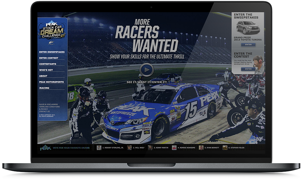 Social Media Campaign: PEAK Stock Car Dreams