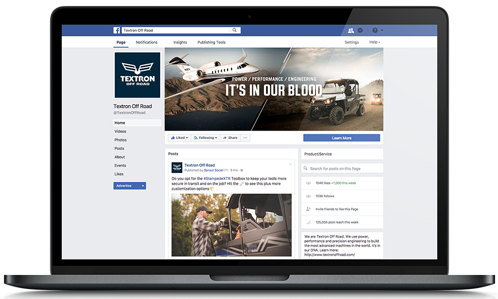 Social Media Campaign Management: Textron