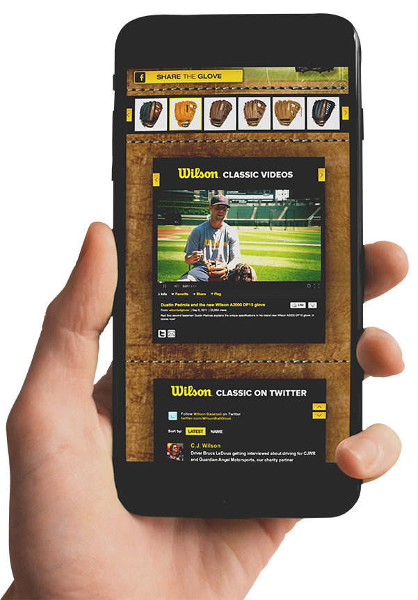 Social Media Campaign: Wilson Custom Gloves